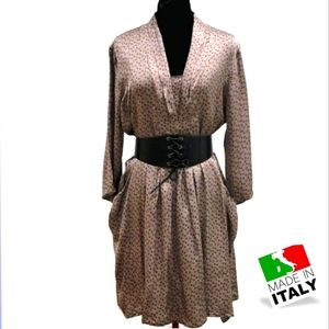 🇮🇹Guilia Silk V-neck Dress L